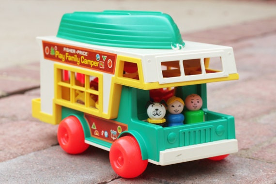 Vintage Fisher Price Little People 1972 Play Family Camper Model 994 ROAD TRIP