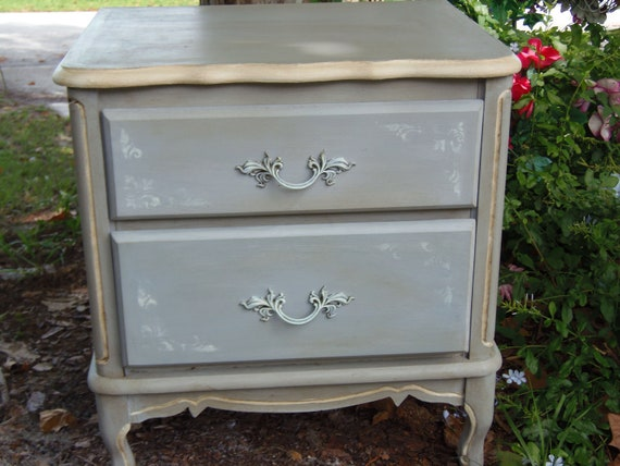 French Provencial Table Paris Apartment French Country Table Curvy Nightstand Shabby Chic Cottage Chic Design Du'Jour