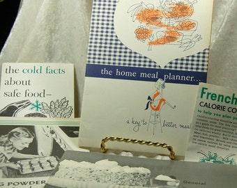 Vintage Booklets 1961 and 1957 General Foods  Menu Planners Homemakers