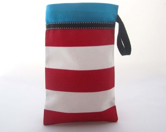 Red Striped Fabric Bags / Cat In The Hat Favors / Circus Party Favors