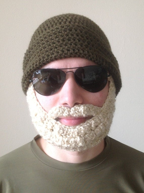 Crochet Pattern For Mens Beanie With Beard : The Easiest Crochet PATTERN Beard Hat PATTERN Beanie Santa