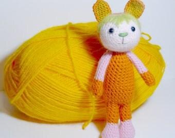 Amigurumi crochet MIguelita, gift,wool toy, plush doll, plush toy, art doll