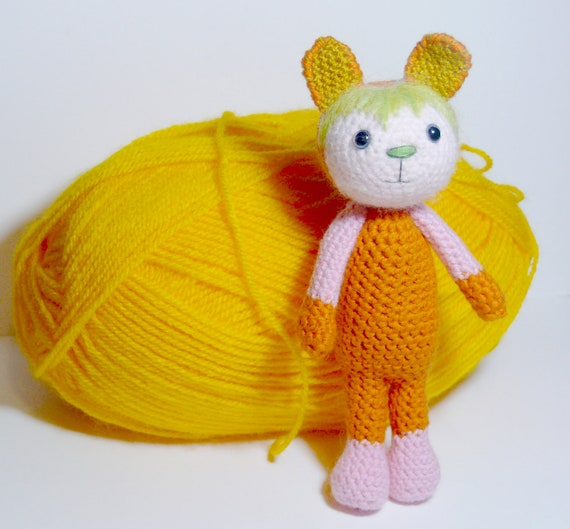 Amigurumi crochet MIguelita, gift,wool toy, plush doll, plush toy, art doll