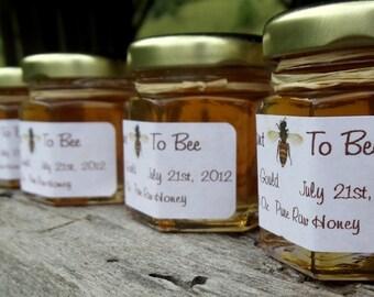 50 Honey Wedding Favors Pure Raw Honey 2.25 oz jar