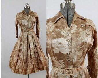 "1960s Pin Up Cocktail Dress // 26"" Waist // Aurora Borealis Beads"