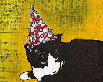 Blank greeting card: Eli's Party Hat