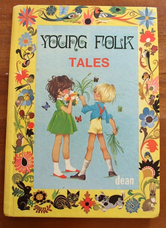 Beautiful Vintage Collectable Book. Young Folk Tales. Dean & Son Ltd. Short Stories. Perfect For Bedtime Reading.