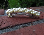 Ivory Swarovski Pearl Barrette Choose Your Size
