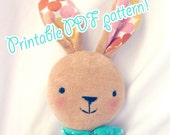 bunny rabbit pattern, printable PDF, A4 or letter