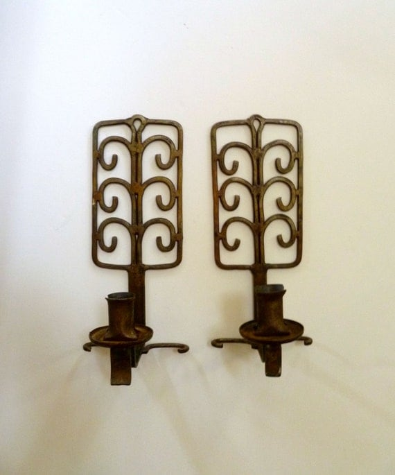 Vintage Rustic Scandinavian Wall Sconces Made in Norway
