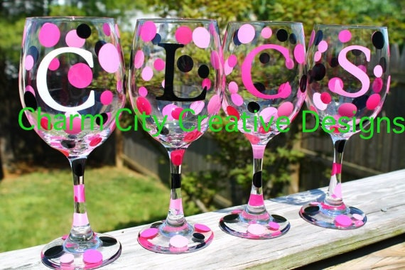Personalized Wine Glass Wedding Gift Bridal Party Birthday Holiday Bachlorette