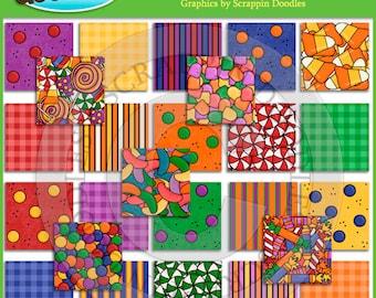 Gumdrops & Lollipops Backgrounds Clip Art