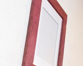 11X14 Picture Frame - Weathered Wood in Red Wine