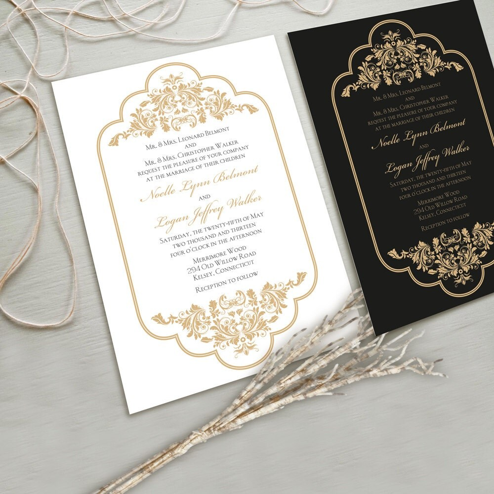 White Wedding Invitations: Timeless And Elegant Wedding Invitation Suite White By