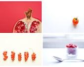 Set of 10 fine art food postcards/prints