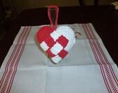 Julehjerter Danish Scandinavian Crocheted  Heart