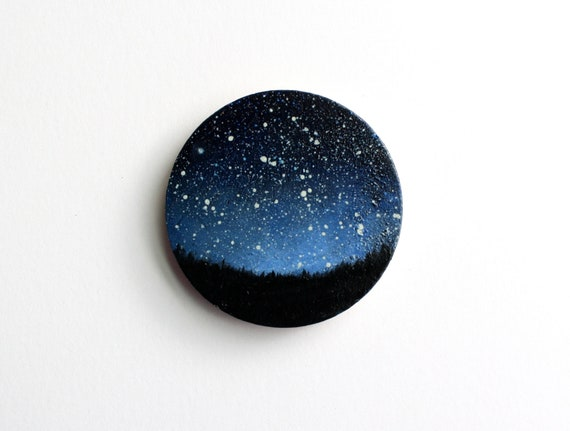 Night Sky Magnet Oil Painting