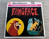 Vintage Viewmaster Fangface slides With Packaging and papers