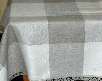 Linen Tablecloth Tablecloths Charcoal Linen Gray Linen Table Gray Tablecloth Large Tablecloth Linen Table Cloth Square Tablecloth Linen Lace