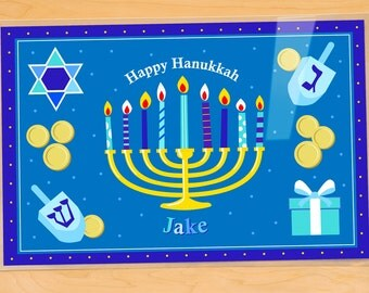 Personalized Hanukkah Placemat for kids