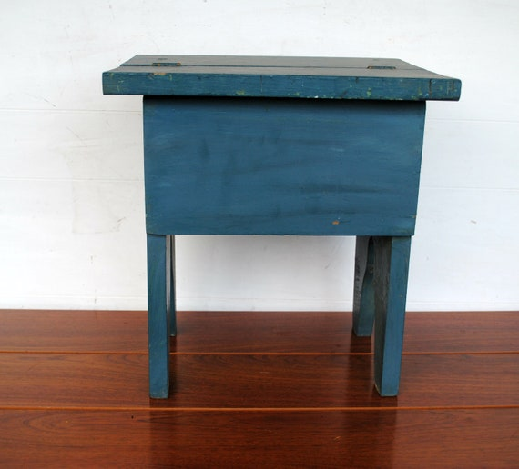 Vintage Stool with Shoe Shine Items