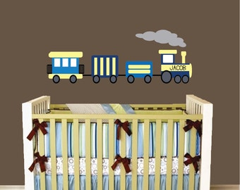REUSABLE Train Wall Decal - Childrens Decals - B605WA