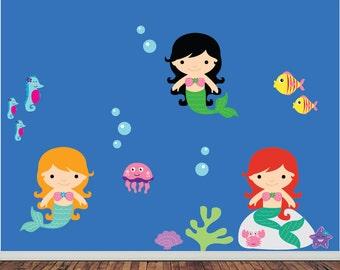 REUSABLE Mermaids Wall Decal - SWA504