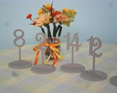 """Table Numbers 6 1/4"""" Tall with base 1-10  PVC"""