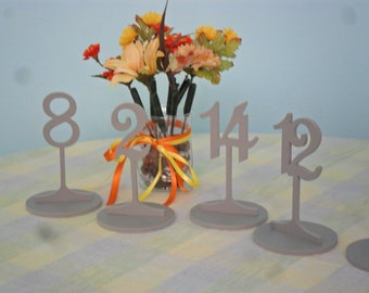 "Table Numbers 6 1/4"" Tall with base 1-10  PVC"