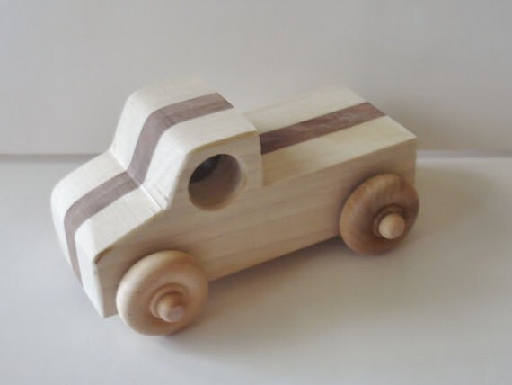 Toy - Natural Wood - Toy - Flat Bed- Truck - Boys - Girls -  Pretend Play - Wooden - Truck- Waldorf - Imiganiation