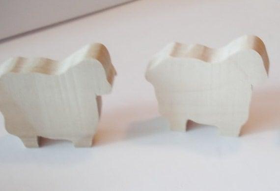 Natural Wood -  Wooden Toys - Sheep - Waldorf - Childrens - Creative Play -