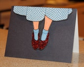 Click Your Heels Together Three Times- Wizard of Oz 3D Card