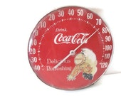 Vintage Coca Cola Dial Thermometer Featuring the Sprite Boy