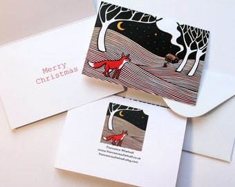 60 Christmas Cards - Choose from Hello Bear, Fox in the Night, Snow, Bournemouth Gardens and Christmas Angel