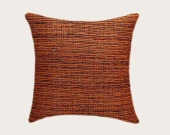 "Decorative Pillow case, Gold color woven Throw pillow cover, fits 18""x18"" insert, Toss pillow case, Cushion case, Home decor"