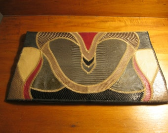 Furst and Mooney leather envelope clutch purse
