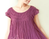 Cotton Summer Top in Purple
