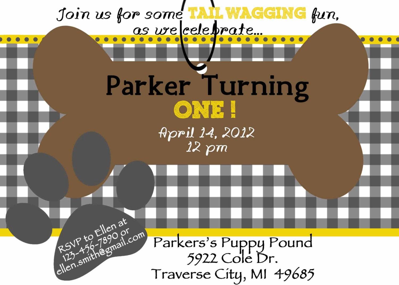Puppy Party Invites – Puppy Party Invitation