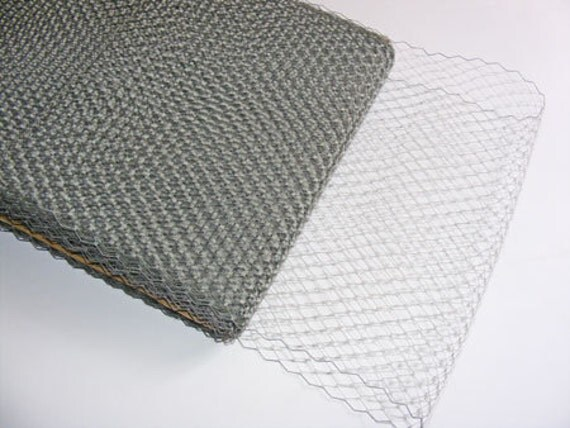 1 metre of  Millinery Veiling in Grey , 21cm wide