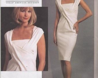 Vogue 1087 Donna Karan American Designer dress  Pattern Sizes 4 to 10