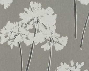 "Two  96"" x 50""  Custom  Drapes - Rod Pocket Panels- Grey  Floral"