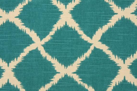 Two 20 x 20 Designer Decorative Pillow Covers - Iman Togo Peacock