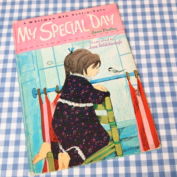 my special day, vintage 1967 children's big whitman tell-a-tale book