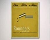Rounders Minimalist Movie Poster / Poker Room / Movie Room / Minimal Wall Art