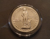 1925 Lexington-Concord Sesquicentennial SILVER Commemorative Half Dollar- AU+