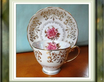 Beautiful Vintage Bone China Cuo and Saucer