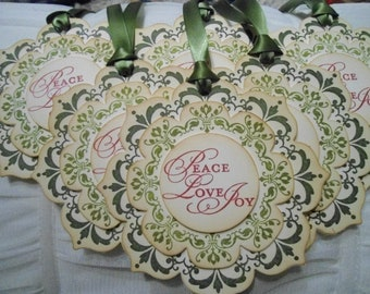 Vintage Inspired Triple Layered Christmas Gift Tags