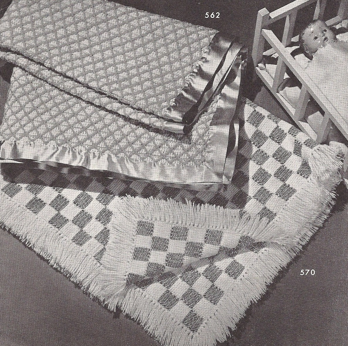 Vintage Crochet Patterns Baby Blankets : Vintage Patterns 2 Baby Blankets Crochet pdf pattern