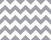 Grey on White Chevron Zig Zag Print Cotton Blend Jersey Knit Fabric-BTY-Presale-Gray Chevron