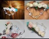 Hair Barrette, Girls Barrette, Wedding Favour, Barrette, Hairclip, Flower Barrette, Girls Hair Accessory, Hair Accessory, Roses